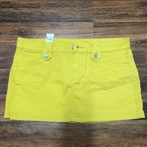 United Colors of Benetton Mustard Yellow Skirt